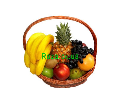 """Fruit basket with pineapple"" in the online flower shop roza.ck.ua"