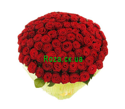 """A huge bouquet of roses"" in the online flower shop roza.ck.ua"