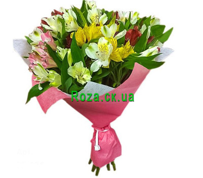 """Classic bouquet of alstroemerias"" in the online flower shop roza.ck.ua"
