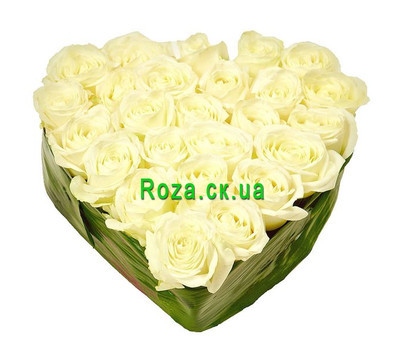 """Composition in the form of heart"" in the online flower shop roza.ck.ua"