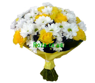 """Contrast bouquet"" in the online flower shop roza.ck.ua"