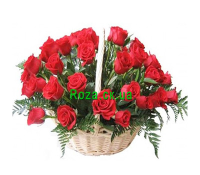 """Basket of 35 roses"" in the online flower shop roza.ck.ua"