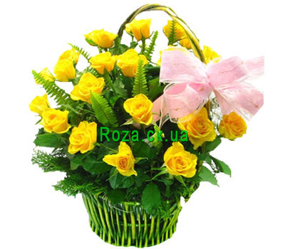 """Yellow Rose Basket"" in the online flower shop roza.ck.ua"