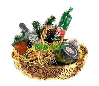 """Basket for the New Years table"" in the online flower shop roza.ck.ua"