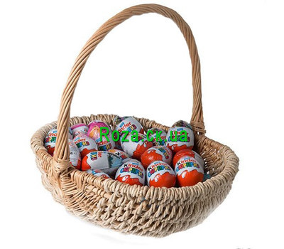 """Kinder basket"" in the online flower shop roza.ck.ua"