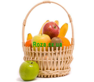 """""""Basket with fruits"""" in the online flower shop roza.ck.ua"""