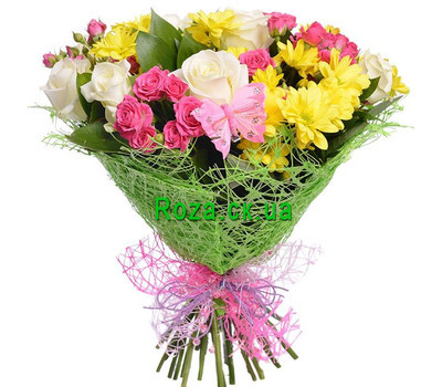 """Beautiful bouquet of flowers"" in the online flower shop roza.ck.ua"