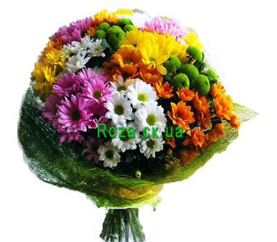 """Beautiful bouquet of chrysanthemums"" in the online flower shop roza.ck.ua"