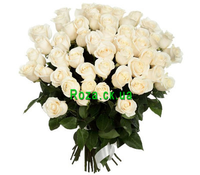 """Beautiful bouquet of white roses"" in the online flower shop roza.ck.ua"