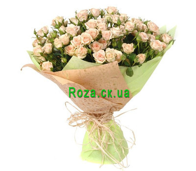 """A beautiful bouquet of bush roses"" in the online flower shop roza.ck.ua"