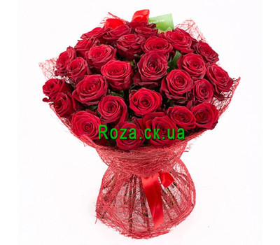 """""""Beautiful bouquet of red roses"""" in the online flower shop roza.ck.ua"""