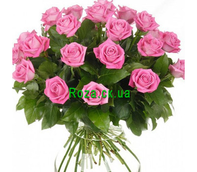 """""""Lovely bouquet of 23 pink roses"""" in the online flower shop roza.ck.ua"""