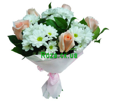 """A gentle bouquet of flowers"" in the online flower shop roza.ck.ua"
