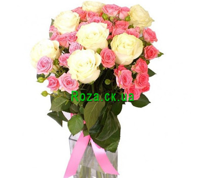 """Delicate bouquet of roses"" in the online flower shop roza.ck.ua"