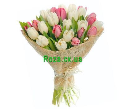 """""""Delicate bouquet of tulips"""" in the online flower shop roza.ck.ua"""