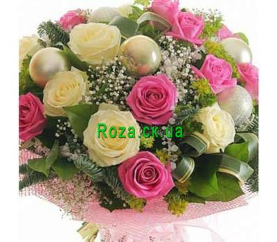 """""""Новогодний букет"""" в интернет-магазине цветов roza.ck.ua"""