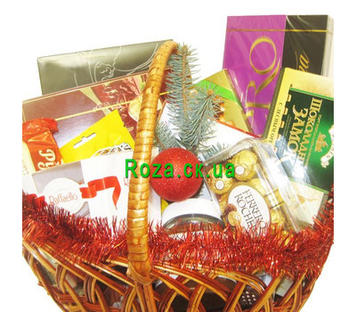 """Christmas basket - Sweet December"" in the online flower shop roza.ck.ua"