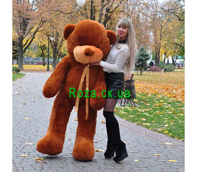 """Huge Brown Bear 2 m"" in the online flower shop roza.ck.ua"