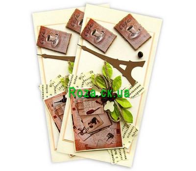"""Postcard With best regards"" in the online flower shop roza.ck.ua"