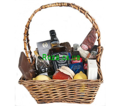 """Gift basket - Male character"" in the online flower shop roza.ck.ua"