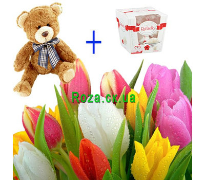 """Gift Solution 3"" in the online flower shop roza.ck.ua"