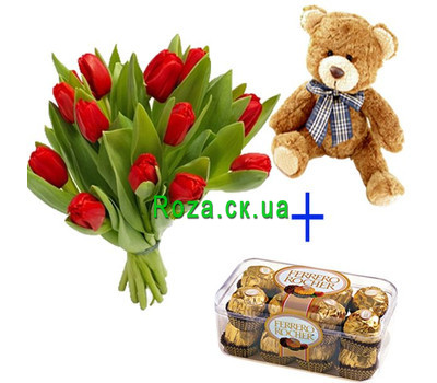 """Gift Solution 6"" in the online flower shop roza.ck.ua"