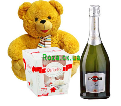 """New Year gift set"" in the online flower shop roza.ck.ua"