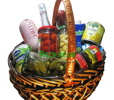 """Food basket - Gourmet"" in the online flower shop roza.ck.ua"
