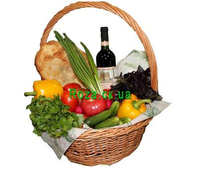 """""""Food basket - Vegetable mix"""" in the online flower shop roza.ck.ua"""