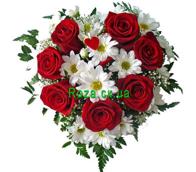 """Heart of flowers"" in the online flower shop roza.ck.ua"