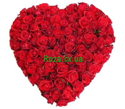 """Heart of 101 roses"" in the online flower shop roza.ck.ua"