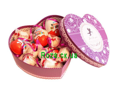 """Heart of Kinder and Raffaello"" in the online flower shop roza.ck.ua"