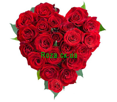 """Heart of roses"" in the online flower shop roza.ck.ua"