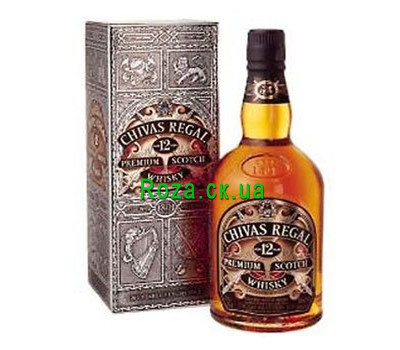 """Chivas Regal whiskey certificate"" in the online flower shop roza.ck.ua"