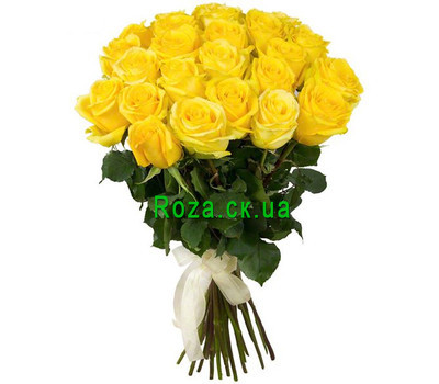 """Sunny bouquet of yellow roses"" in the online flower shop roza.ck.ua"