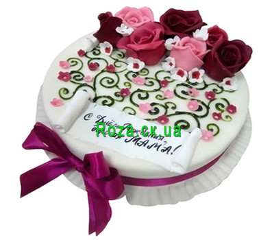 """""""Mom''s Cake'"""" in the online flower shop roza.ck.ua"""