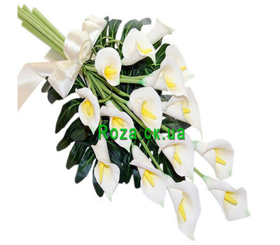 """""""Bouquet of callas"""" in the online flower shop roza.ck.ua"""