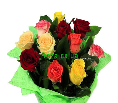 """Bright bouquet of roses"" in the online flower shop roza.ck.ua"