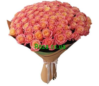 """101 rose Miss Piggy"" in the online flower shop roza.ck.ua"