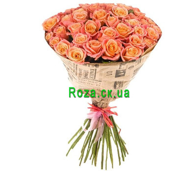 """35 Miss Piggy roses in paper"" in the online flower shop roza.ck.ua"