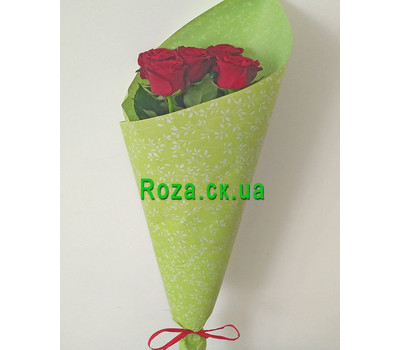 """5 red roses - 2"" in the online flower shop roza.ck.ua"