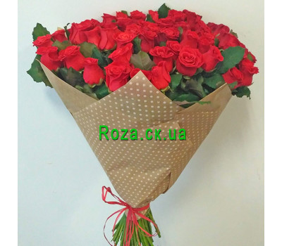 """""""51 roses and a bear 2"""" in the online flower shop roza.ck.ua"""