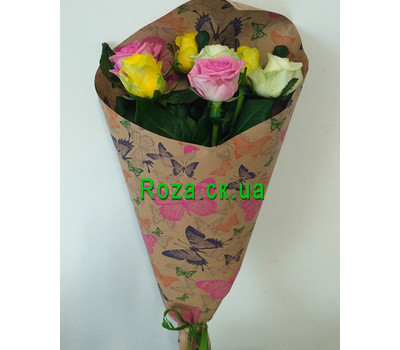 """Bouquet of 7 roses 1"" in the online flower shop roza.ck.ua"