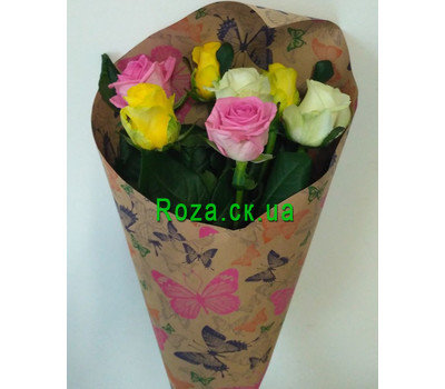 """Bouquet of 7 roses 2"" in the online flower shop roza.ck.ua"