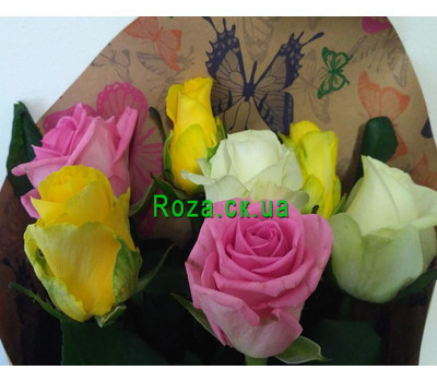 """Bouquet of 7 roses 3"" in the online flower shop roza.ck.ua"