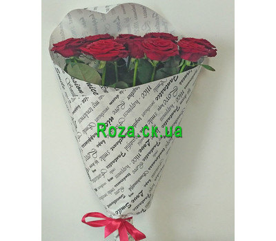 """Wonderful bouquet of 11 red roses - 1"" in the online flower shop roza.ck.ua"