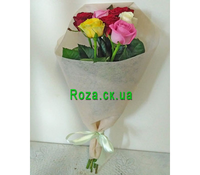 """Bouquet of 7 roses 4"" in the online flower shop roza.ck.ua"