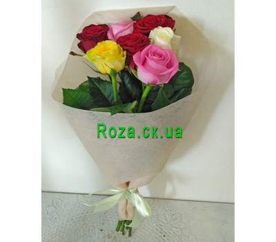"""Bouquet of 7 roses 5"" in the online flower shop roza.ck.ua"