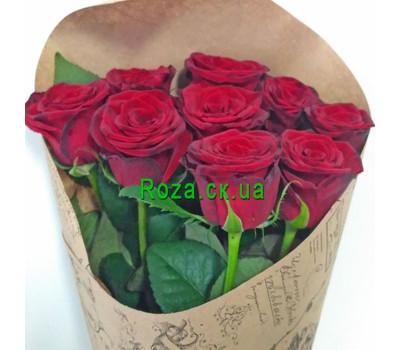 """""""Букет из красных роз в бумаге - вид 2"""" в интернет-магазине цветов roza.ck.ua"""