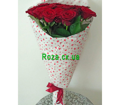 """Bouquet of red roses in Cherkasy 1"" in the online flower shop roza.ck.ua"